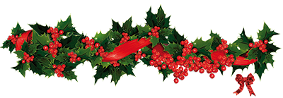 Christmas Garland PNG 01562