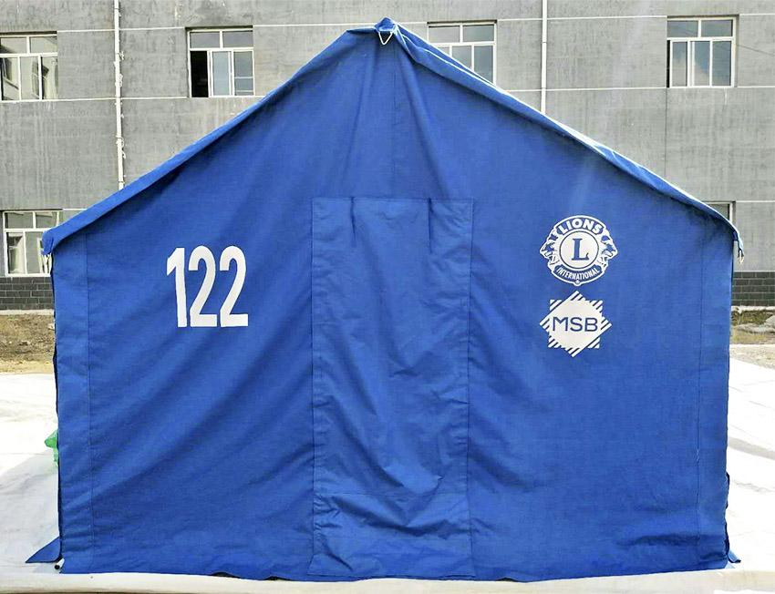 Tält, filtar och matpaket till flyktingar | Lions Club